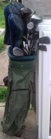 Golf Clubs and Golfing Bag