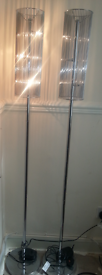 floor lamp silver chrome from NEXT with dimmer switch