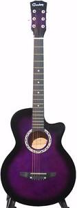 Acoustic Guitar iMusic204 purple 38 inch ; Like new (hair scratch) for beginners, children