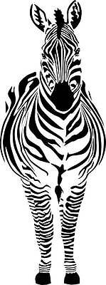 Zebra Vinyl Wall Decal | Removable Sticker | Bedroom Animal Decor [CK62] 22x5