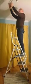 Safety ladders with four non-slip steps.
