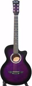 Acoustic Guitar for beginners, Scratch from Factory ; iMusic204 Purple 38 inch