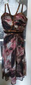 Ladies chiffon beaded maxi dress. Little Mistress. Size 16. Used