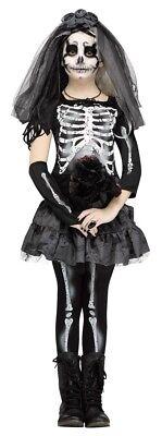 Mädchen Kind Skelett Braut Style Kostüm