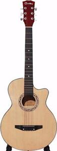 Acoustic Guitar for beginners children students Kids Smaller adults 38 inch iMusic201 Brand New Free 5 picks