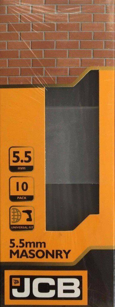 150mm Universal Fit 10 PACK L 5.5mm DIA JCB Masonry Drill Bit