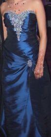 Bridesmaid dress - size 8 - strapless - midnight blue