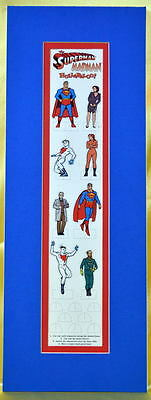The SUPERMAN / MADMAN HULLABALOO! Cut Out Figures MATTED Sheet 1997 Mike - Superman Cut Out