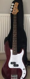 Perfect condition - Westfield bass guitar & bag
