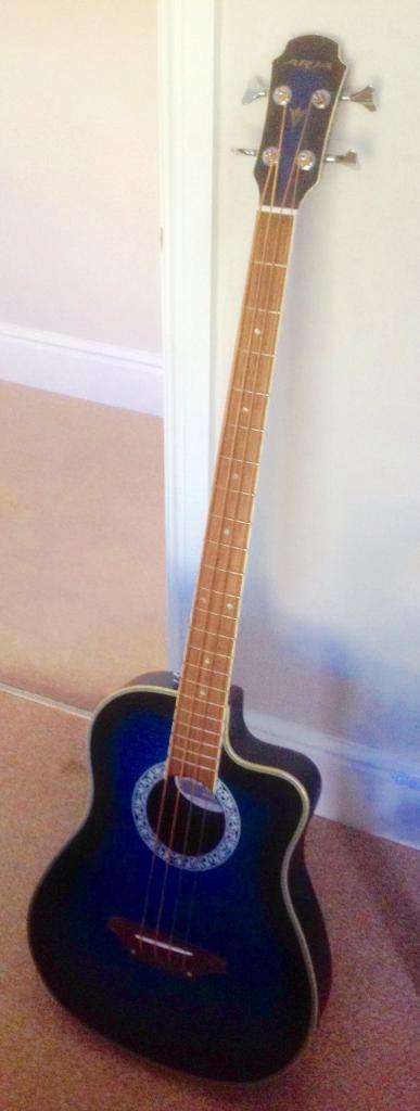 Bass Guitar Aria Electro Acoustic