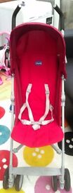 Chicco red pushchair