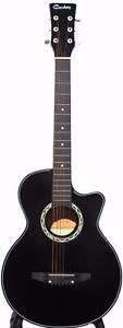 Black Acoustic guitar for beginners, students, children, smaller adults iMusic202