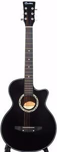 Acoustic Guitar for beginner children student 38 inch iMusic202 Black Free 5 picks
