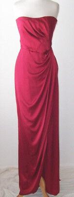ALBERTA FERRETTI Red Silk Bustier Wrap Dress Gown 44 8
