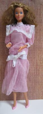 Barbie Doll 1984 Heart Family MOM in Pink DRESS/ CLOTHES/Pink Shoes outfit - Clothes 1980 Outfits