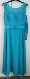 Long Chiffon Wedding Formal Evening Party Bridesmaid Ball Gown Dress Size 12