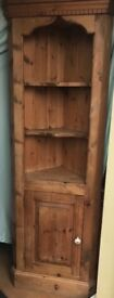 Solid Pine Corner Unit with bottom cupboard