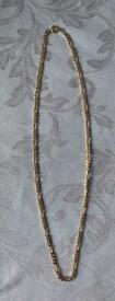 """18ct Gold Figaro 20"""" Necklace (10 grams)"""