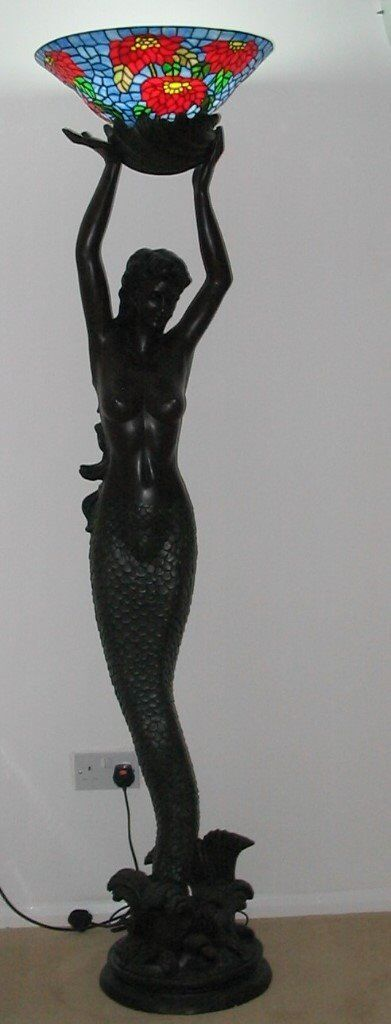 Floor lamp rare lifesize goddess offering mermaid in cambridge floor lamp rare lifesize goddess offering mermaid mozeypictures Gallery