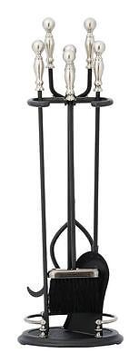 Graphite Fireplace Tool Set (Achla Minuteman Graphite and Pewter 4 - Fireplace Tool Set)