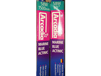 "NEW ARCADIA MARINE BLUE ACTINIC T8 LIGHT TUBE 58W 60"" FOR FISH TANK - DELIVERY PAYPAL 07544000786"