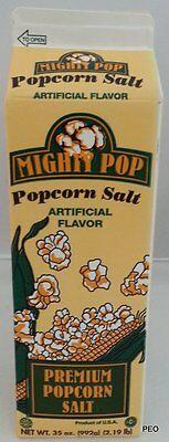 Mighty Pop Butter Flavored Popcorn Seasoning Bulk Theater Salt 35 oz Carton