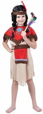 Indianer Kostüm Mädchen Kinder beige in Gr. 110 bis 140 -087525 (Bis Kostüm Kind)