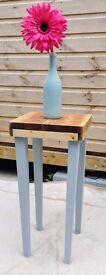 Handmade stool/table. Rustic style. Shabby chic