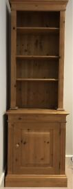 Quality classic styled waxed Pine Cabinet and Bookcase