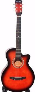 Acoustic Guitar for beginners children students smaller adults iMusic206 sunburst