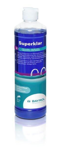 BAYROL Superklar 0,5 l - Flockung für Kartuschenfilter für klares Poolwasser