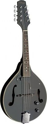 NEW Stagg M50 E Premium A Style Bluegrass Acoustic Electric Mandolin - Black