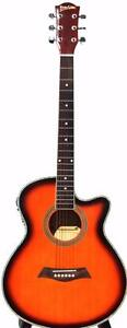 Acoustic Electric Guitar for beginners Sunburst 40 inch iMusic227 Free 5 picks