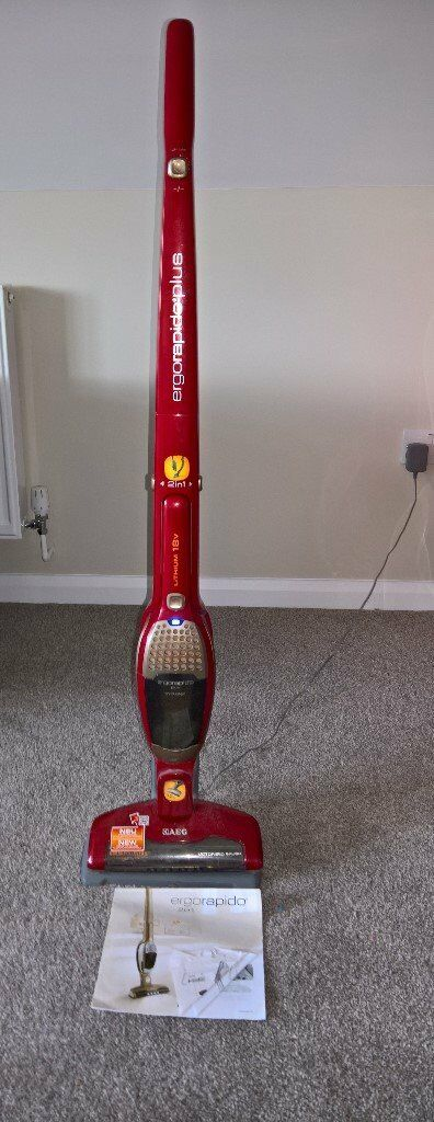 AEG ergorapido 2 in 1 cordless vacuum cleanerin Ipswich, SuffolkGumtree - In good used working order with charging station, attachments and instructions. Handheld vacuum detaches from main unit for an even quicker clean