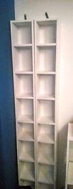 2 x White DVD / bluray / cd media storage tower. VGC
