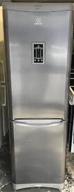 Indesit fridge freezer height is 185 cm and width is 60 cm very good condition