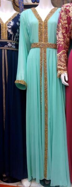 BRAND NEW DUBAI KAFTAN Arabic Farasha caftan Abaya Evening/Wedding/Party Dress for sale  Leicester, Leicestershire