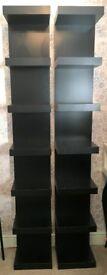 IKEA Lack Wall Shelving Unit - Black, 2 Available