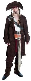 JACK SPARROW / RUM SMUGGLER PIRATE SIZE XL PLEASE NOTE ITS ONLY THE TROUSERS , HAT AND BOOT TOPS