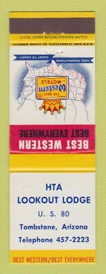 Matchbook Cover - Best Western HTA Lookout Lodge Tombstone