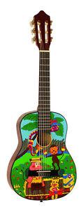 Gitarre/Kinder, Jugend, 1/4-Modell-B2-mit lustigen Motiven, Lern/Schulgitarre!n
