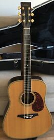 Beautiful Vintage V1500n Acoustic Solid Top Dreadnought natural finish