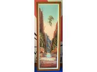 vintage large tall oil painting