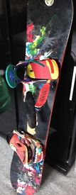149 burton snowboard with bindings
