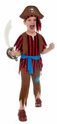 Smiffys Pirat Piratenkostüm für Jungen, M Jungen Karneval Fasching Kostüm