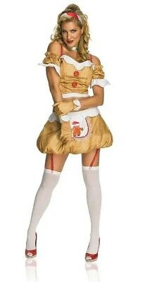 Gingerbread Girl Women's Sexy Christmas Cookie Cosplay Costume 10-14 Large #8041 (Cookie Girl Costume)