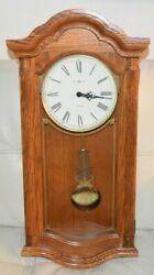 Excellent Howard Miller 620-222 Lambourn II Wall Clock Golden Oak 2 Chime