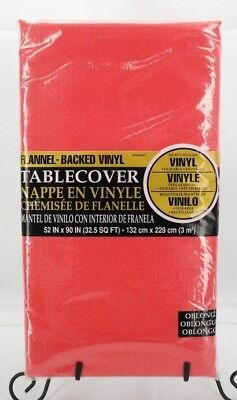 Amscan Apple Red Flannel Backed Vinyl Party Tablecloth / T2 - Amscan Tablecloths