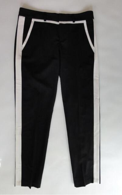 Misses Black Cream Seasonless Wool Ankle Dress Pants Vince ...