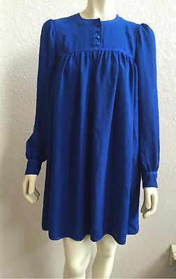 Yves Saint Laurent Edition 24 YSL Blue Mini Dress 38 NWT